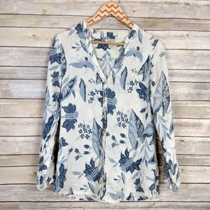 Lucky Brand Floral Print Long Sleeve Top